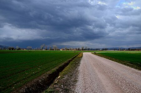 The storm in the spring in umbria photo