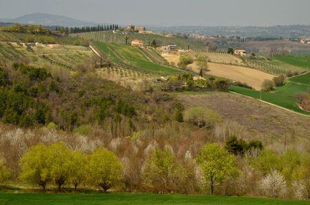 Spoleto hills in the spring