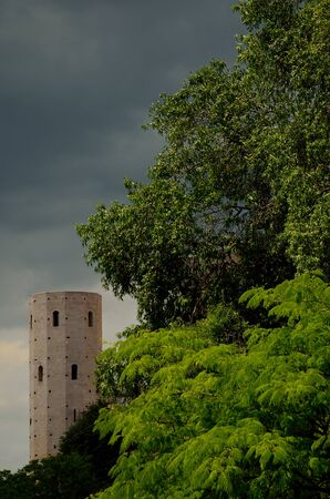 spello: The tower of Spello after the storm
