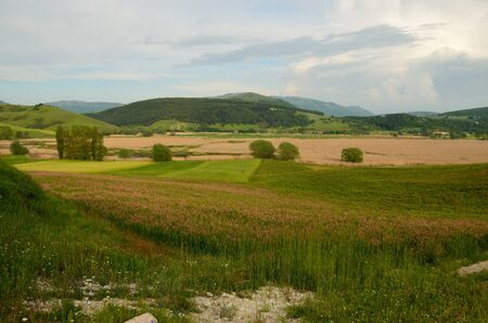 A view of Colfiorito in the spring Stock Photo - 14078859
