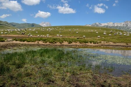 abruzzo: Little lake in the abruzzo mountains