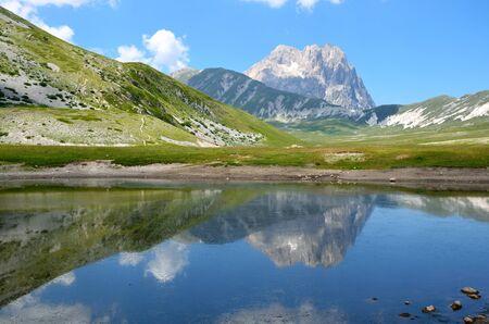 Abruzzo lake in the park of the Gran Sasso Stock Photo