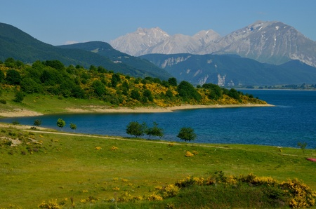 Lake of Campotosto in Abruzzo Zdjęcie Seryjne