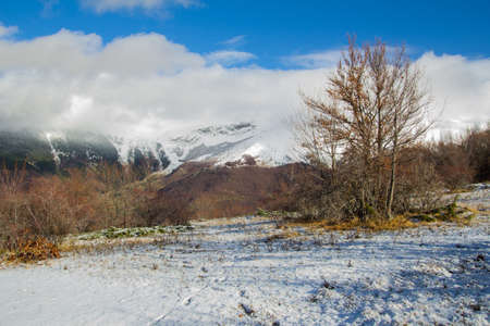 Snow in the sibillini mountains photo