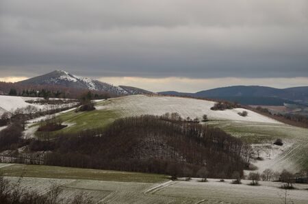 Umbria hills with the snow Stock Photo - 16793577