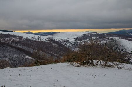 appennino: Sunset in the italian appennino