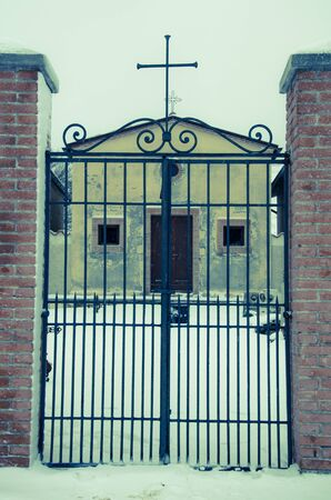 appennino: Gate of the mountain cemetery