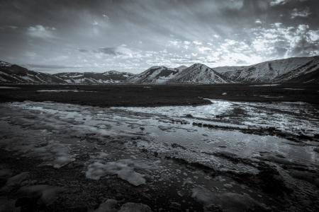 A beautiful sunset in mountain