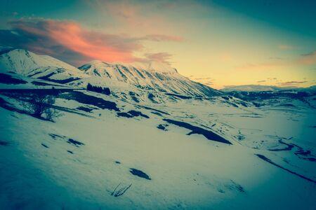 Sunset on the Vettore mountain