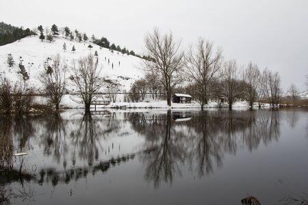 Reflect in the Colfiorito lake photo