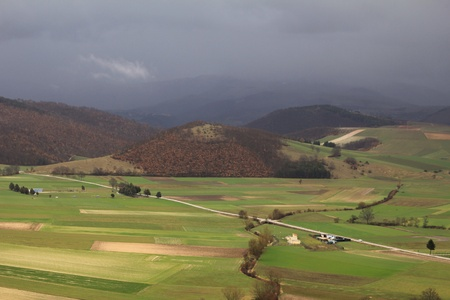 Umbria landscape afther the storm photo