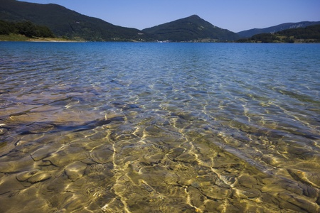 abruzzo: Abruzzo mountain lake in Italy
