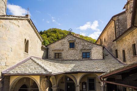Sanctuary of Chiusi della Verna in Tuscany - Italy. Zdjęcie Seryjne - 32597149