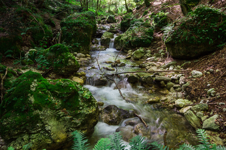 appennino: A view of mountin river Stock Photo