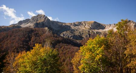 A view of Terminillo mountain in the autumn season Stock Photo