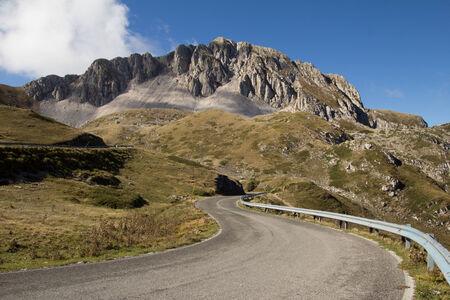 appennino: Road to the Terminillo mountain Stock Photo