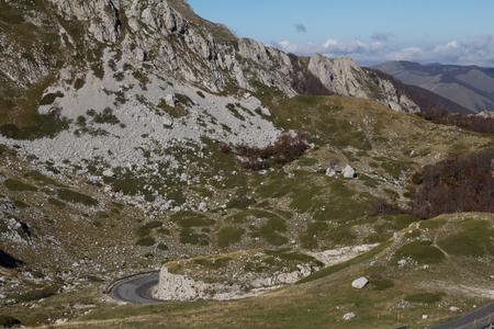 appennino: Image of Lazio mountain road.