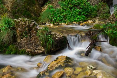 abruzzo: Photo of Rio Arno waterfall in the Gran Sasso park. Stock Photo