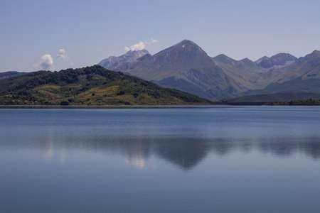 reflects: The Reflects of the mountain on the lake Campotosto