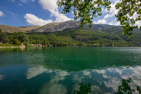 water s edge: Image of Scanno lake in Italy