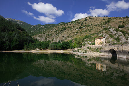 abruzzo: Saint Domenico lake in Abruzzo Stock Photo