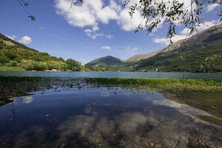 abruzzo: Photo of Scanno lake in abruzzo Stock Photo