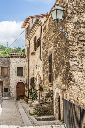 abruzzo: A view of Pacentro streets in abruzzo Editorial