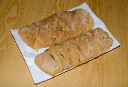 Two sweet braided Bread photo