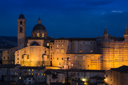 urbino: The landscape of medieval town Urbino, Italy Stock Photo
