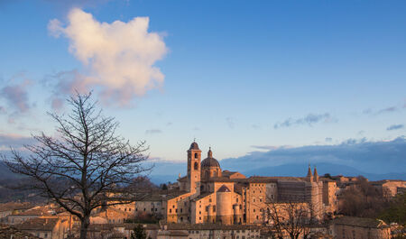 urbino: Panorama of Urbino at the sunset Editorial