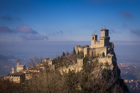 san marino: Old fortress of San Marino