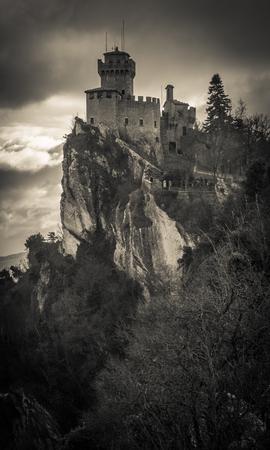 toskana: Image of dark castle in the sky