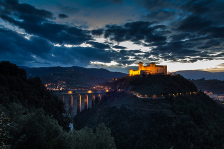 A beautiful view of Spoleto by night