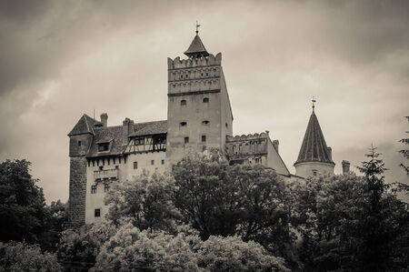 Bran Castle, Transylvania, Romania, known for the story of Dracula 版權商用圖片