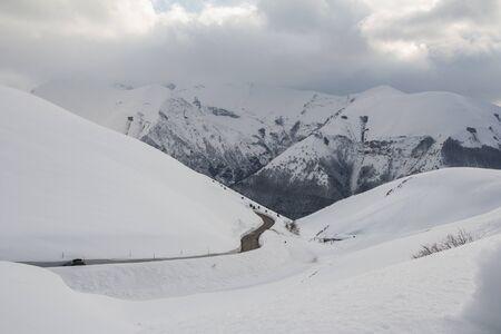 sibillini: A view of Sibillini park in the winter season