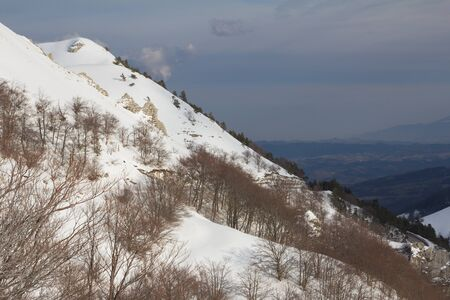 apennines: Image of the italian apennines in winter