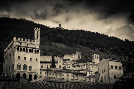 Medieval towns of Italy series in black and white - Gubbio