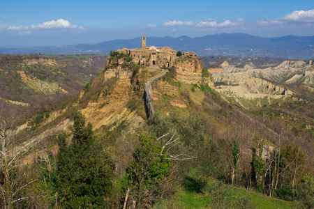 etrurian: A view of Civita di Bagnoregio in Lazio - Italy.