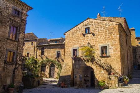 Main gates and buildings to Bagnoregio town, Lazio, Italy photo