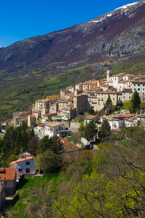 abruzzo: The old village of Barrea in Abruzzo Stock Photo