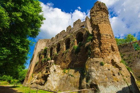 Ruins of the ancient town of Monterano, Rome, Italy