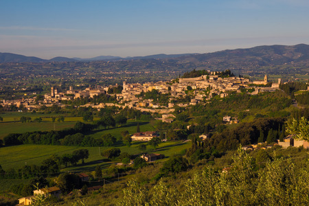 spello: Photo of Spello village in the summer season Stock Photo