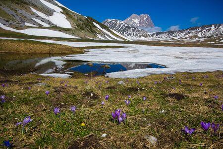 Photo of Corno Grande at Gran Sasso mountain Abruzzo  Italy