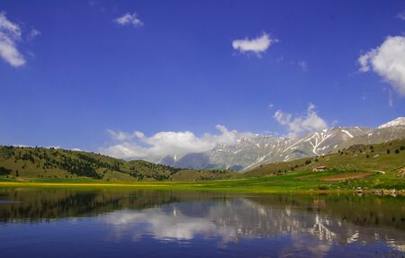 abruzzo: Photo of Filetto lake in Abruzzo Stock Photo