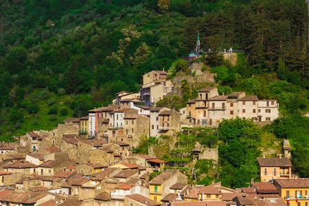 rieti: Antrodoco (Rieti, Lazio, Italy) - Panoramic view of the town Stock Photo