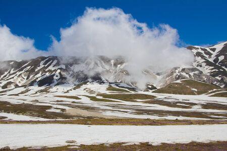 abruzzo: Abruzzo landscape with snow