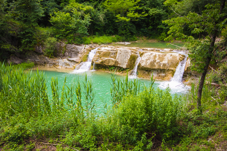 Waterfall in the Metauro river