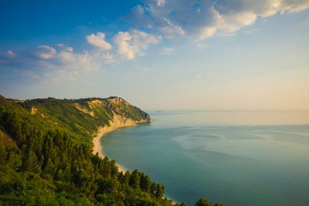 The beach of Portonovo, Conero - Italy.