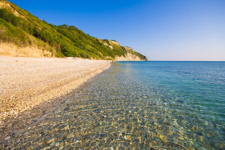 Crystalline sea on the Mezzavalle beach