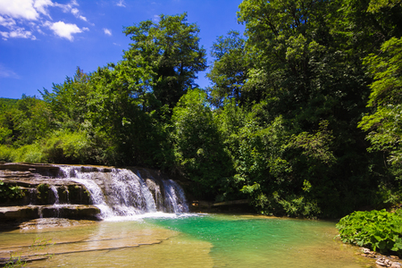Photo of Metauro waterfall in the marche region - Italy
